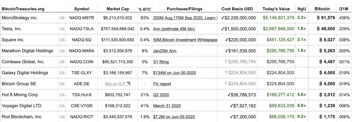 10 største Bitcoin investorer